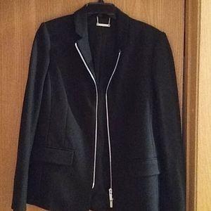 New Black blazer zip up
